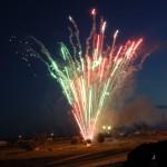 Höhenfeuerwerk zum Feuerwerksfestival auf dem Sachsenring.